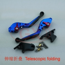 Motorcycle folding lever blue